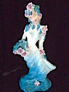Hedi Schoop Large Swirl Dress Spill VASE Figure applied Flowers Phantasy Line