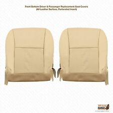 2010 2011 2012 Lexus RX 350 Driver & Passenger Bottom Leather Seat Covers Tan