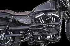 RSD Track 2 into 1 Black Exhaust 04-17 Harley Davidson Sportster Nightster XL