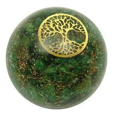 Aventurine Pierre Tree Of Life symbole boule équilibrage de guérison des