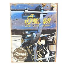 Indian Motorcycle Sign Lengendary Since 1901 New Metal Collectible 12 1/2x16in