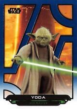 Star Wars Galactic Files (2018) BLUE PARALLEL BASE Card AOTC-24 / YODA