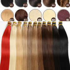 Pre Bonded Glue Stick/I Tip Remy Human Hair Extensions Straight 16-24inch 100s
