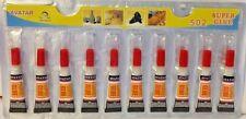 New~10 pack SUPER GLUE Cyanoacrylate Adhesive Wholesale Crazy Glue