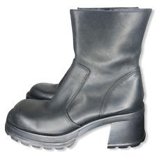 Steve Madden Vintage Hott Chunky Platform Boots Women's Sz 10B Black