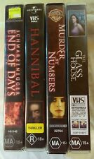 VHS Lot of 4 Large Case Titles: End Of Days, Hannibal, Murder by Numbers +