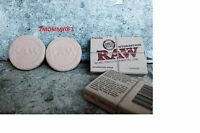 TWO! RAW Rolling Papers HYDROSTONE HUMIDOR HUMIDIFIER CIGAR TOBACCO New Design
