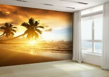 Sunset on the Beach of Caribbean Sea Wallpaper Mural Photo 16504177 budget paper