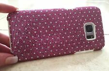 Clear Dots Made with Pink Swarovski Crystals Bling Rhinestone Case iPhone 6 Plus