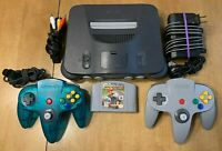 Nintendo 64 Bundle - w/ 2 Controllers, Mario Kart 64, and Cables