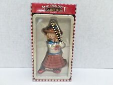 "Mary Engelbreit Girl Glass Ornament Christmas Collection 6.5"" Tall"