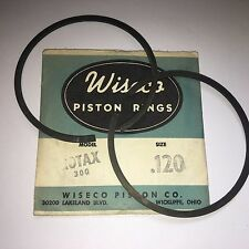 SKI DOO ROTAX 300 SINGLE CYLINDER WISECO PISTON RINGS .120 OVERSIZE NOS