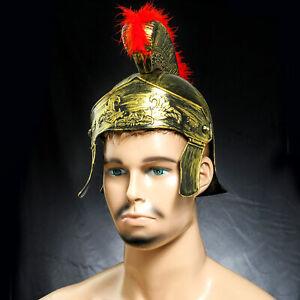 Helmet Medieval Armour King Roman Plastic Crested Samurai Hat Spartan Warrior_HQ