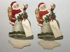 Antique Dennison? Place Card Holders Card Christmas Santa Lovely Graphics