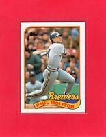 1989 Topps baseball #110 PAUL MOLITOR Milwaukee Brewers Hall of Fame