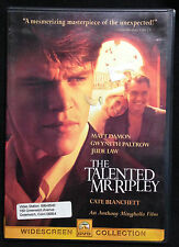 The Talented Mr. Ripley (Dvd, 1999) Widescreen - Disc is Mint - No Scratches!