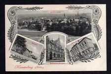 108980 AK Münsterberg Schlesien 1906 Bahnhof Postamt Kath. Knabenschule Gesamt