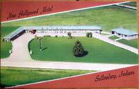 1940 Linen Postcard: New Hollywood Motel - Sellersburg, Indiana / Louisville, KY