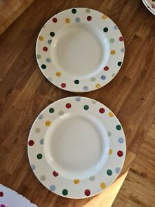 Emma bridgewater polka dot dinner plates x2