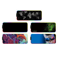 RGB Gaming Mouse Pad Mat, 11.8 x 31.5 x 0.2 inch Led Mousepad with Non-Slip