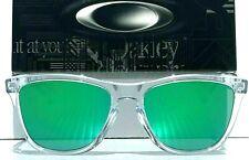 NEW* Oakley Frogskins Clear Crystal w POLARIZED Galaxy JADE Green Sunglass 9245