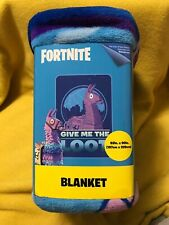 "Fortnite Plush Blanket ""Give MeThe Loot"" 62"" X 90"""