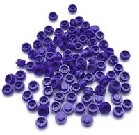 LEGO 100 New Dark Purple Plates Round 1 x 1 Straight Side Pieces