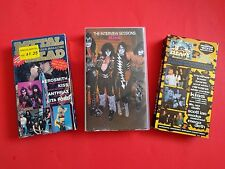 KISS VHS lot Interview Sessions, Hard N Heavy, Metal Head, RARE footage on all!