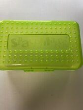 Spacemaker Pencil Box Lime Green Vintage 90s Plastic Storage Case