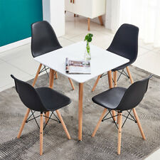 Modern 5 Piece Dining Set Dining Table w/ 4 chairs Breakfast Kitchen Room Black
