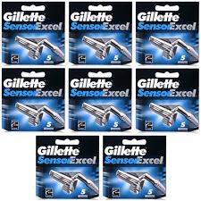 40 Blades Gillette Sensor Excel Shaving Razor Refill Blade Cartridges