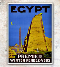"""Vintage Travel Poster Egypt 12x16"""" Rare Hot New A359"""