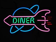 New 1950's American Style Retro Neon Diner Sign Hanging Standing - DINER ROCKET