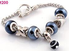 New handmade porcelain &acylic beaded special clasp European charm bracelet t200