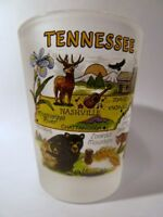 TENNESSEE MAP FROSTED SHOT GLASS SHOTGLASS