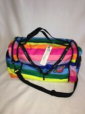 NWT LeSportsac Collette Large Convertible Duffel/Cross Body Rainbow Stripe