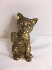 "Vintage Art Deco Style Brass Cat Door Knocker 7"" Unused"