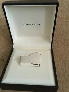 Alfred Dunhill Silver Money Clip New In Gift Box