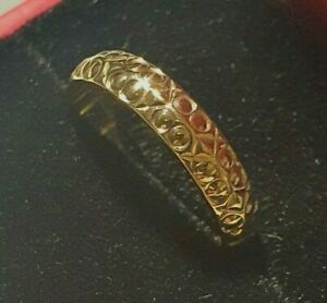 Vintage 9ct Gold Band Ring Size L
