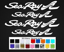 """Sea Ray Boats Decal Set Stickers 12""""/9"""" Fishing Baitcaster Swim Bait Outboard"""