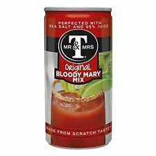 NEW Mr & Mrs T Original Bloody Mary Mix 5.5 fl oz cans Pack of 24