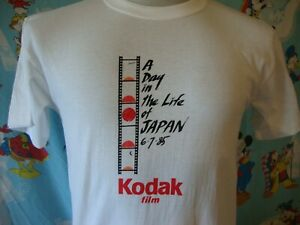 Vintage 80's Kodak A Day in The Life Japan 1985 T Shirt M