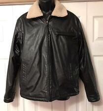Men's Sawyer of Napa Black Jacket size medium faux leather M