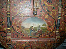 17th C. Flemish? Venetian? Painted Jesus w/ Samaritan Woman Gate-Leg Side Table