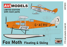 "AVI Models 1/72 Model Kit 72012 de Havilland DH-83 Fox Moth ""Floating & Skiing"""
