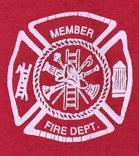 Vintage Mens 2XL 80s 90s Fire Department Member El Reno Oklahoma Red T-Shirt
