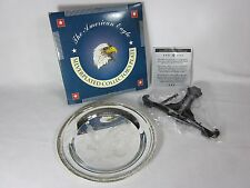 Legacy Silversmiths American Eagle Silverplated Collectors Plate and Stand