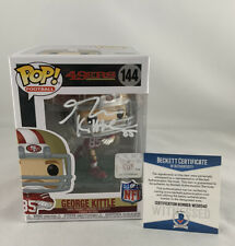 49ERS GEORGE KITTLE SIGNED FUNKO POP #144 BAS WITNESS COA #WE56340