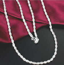 Men & Women Fashion 925 Sterling Silver Necklace Chain Jewelry FREE SHIPPING!!!