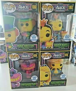 Alice 1058, Mad Hatter 1060, Queen 1063 & Cheshire Cat 1059 Funko Pop Wonderland